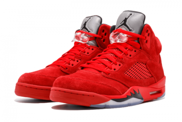Latest Air Jordan 5 Red Suede University Red Black University Red 2021 For Sale 136027-602 -1