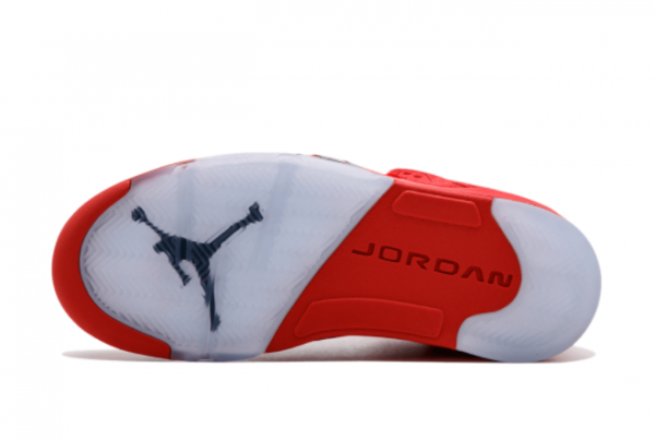 Latest Air Jordan 5 Red Suede University Red Black University Red 2021 For Sale 136027-602 -2