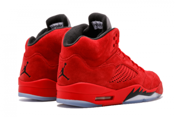 Latest Air Jordan 5 Red Suede University Red Black University Red 2021 For Sale 136027-602 -3