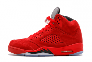 Latest Air Jordan 5 Red Suede University Red Black University Red 2021 For Sale 136027-602