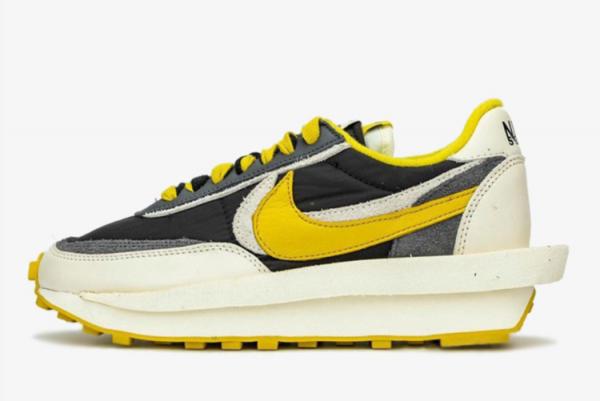 Latest Clot x Sacai x Nike LDWaffle Black Yellow-Sail 2021 For Sale DJ4877-01
