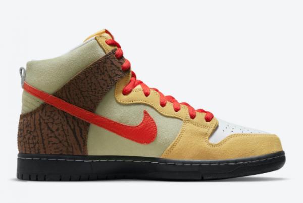 Latest Color Skates x Nike SB Dunk High Kebab and Destroy 2021 For Sale CZ2205-700-1