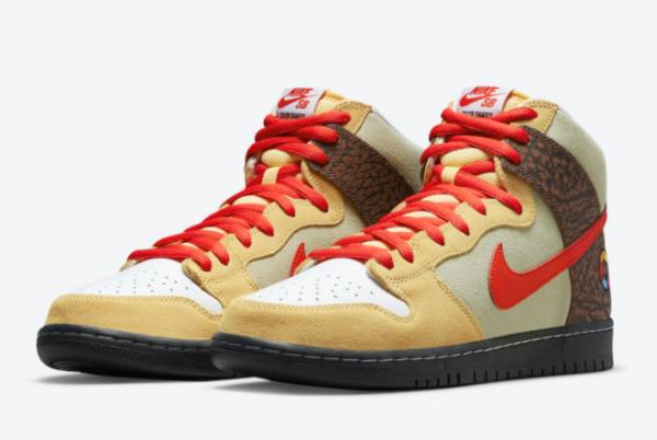 Latest Color Skates x Nike SB Dunk High Kebab and Destroy 2021 For Sale CZ2205-700-2