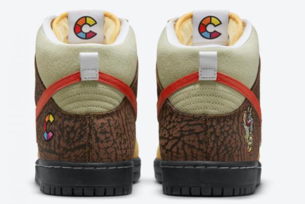 Latest Color Skates x Nike SB Dunk High Kebab and Destroy 2021 For Sale CZ2205-700-3