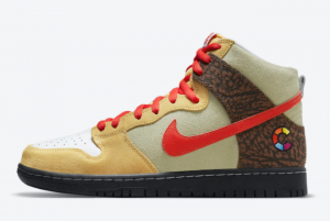Latest Color Skates x Nike SB Dunk High Kebab and Destroy 2021 For Sale CZ2205-700