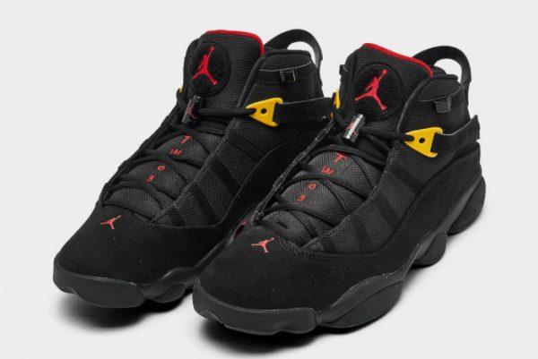 Latest Jordan 6 Rings Last Shot Black University Red-Dark Sulfur 2021 For Sale 322992-065-2