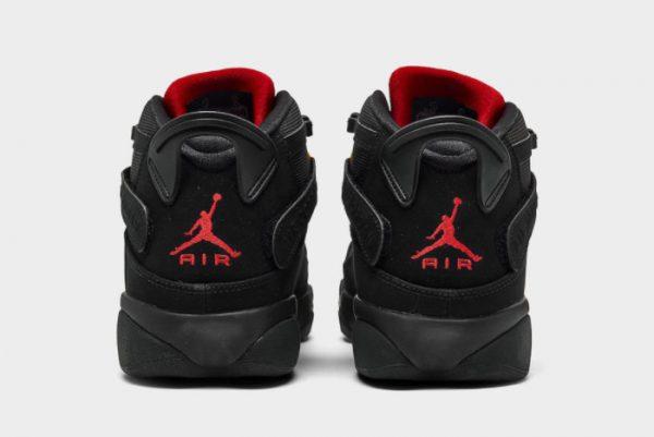 Latest Jordan 6 Rings Last Shot Black University Red-Dark Sulfur 2021 For Sale 322992-065-3