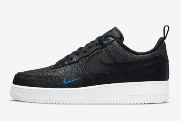 Latest Nike Air Force 1 Low Black Blue 2021 For Sale DN4433-002