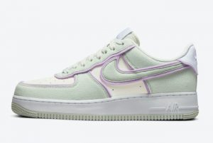 Latest Nike Air Force 1 Low Sea Glass Seafoam-Pure Violet 2021 For Sale DN5056-100
