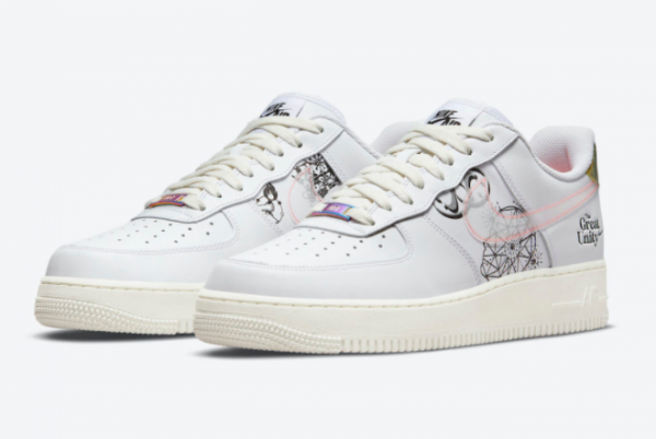 Latest Nike Air Force 1 Low The Great Unity 2021 For Sale DM5447-111-2