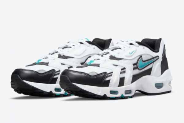 Latest Nike Air Max 96 II Mystic Teal White Mystic Teal-Black-Reflect Silver 2021 For Sale CZ1921-101 -2
