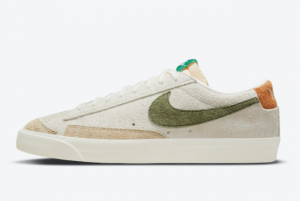Latest Nike Blazer Low Suede Sail Light Tan Olive Green Brown 2021 For Sale DM7582-100
