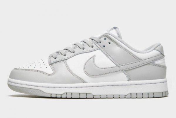 Latest Nike Dunk Low Grey Fog White Grey Fog 2021 For Sale DD1391-103