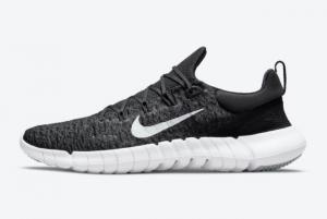 Latest Nike Free Run 5.0 Black Dark Smoke Grey-White 2021 For Sale CZ1884-001