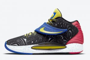 latest nike kd 14 black fusion red white yellow strike 2021 for sale cw3935 004 300x201