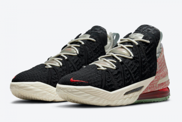 Latest Nike LeBron 18 Goat Black Pale Ivory 2021 For Sale CQ9283-008-2