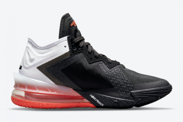 Latest Nike LeBron 18 Low Heart of Lion White Black 2021 For Sale CV7562-002-1