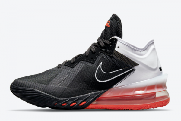 Latest Nike LeBron 18 Low Heart of Lion White Black 2021 For Sale CV7562-002
