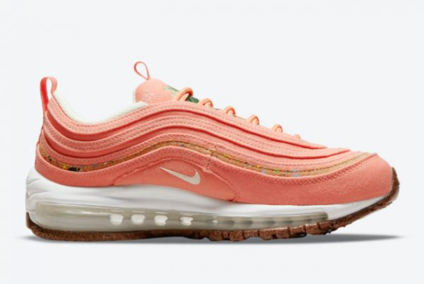 Latest Nike Wmns Air Max 97 Cork Coral Pink 2021 For Sale DC4012-800-1