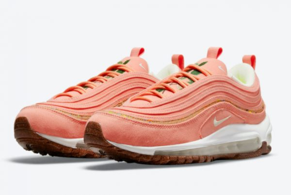Latest Nike Wmns Air Max 97 Cork Coral Pink 2021 For Sale DC4012-800-2