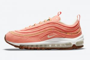Latest Nike Wmns Air Max 97 Cork Coral Pink 2021 For Sale DC4012-800