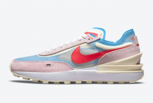 Latest Nike Wmns Waffle One Flower Pale Blue 2021 For Sale DN5057-600
