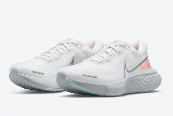 Latest Nike ZoomX Invincible Run Flyknit White Pure Platinum-Chile Red-Metallic Silver 2021 For Sale CT2228-102-1