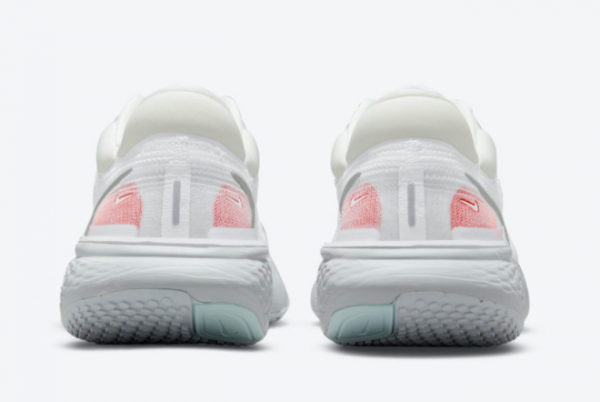 Latest Nike ZoomX Invincible Run Flyknit White Pure Platinum-Chile Red-Metallic Silver 2021 For Sale CT2228-102-2