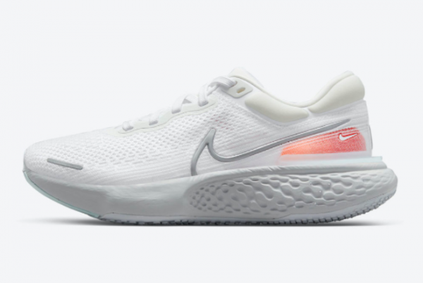 Latest Nike ZoomX Invincible Run Flyknit White Pure Platinum-Chile Red-Metallic Silver 2021 For Sale CT2228-102
