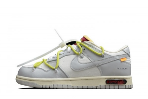 Latest Off-White x Nike SB Dunk Low The 50 White Platinum-White 2021 For Sale DM1602-122
