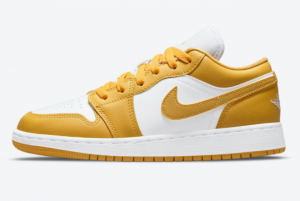 New Air Jordan 1 Low GS White Mustard Yellow 2021 For Sale 553560-171