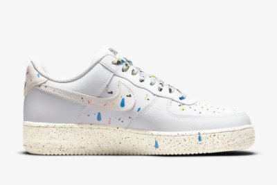 New Nike Air Force 1 '07 LV8 Paint Splatter White/Sail 2021 For Sale CZ0339-100 -1