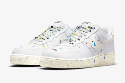 New Nike Air Force 1 '07 LV8 Paint Splatter White/Sail 2021 For Sale CZ0339-100 -2