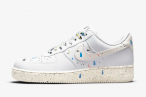 New Nike Air Force 1 '07 LV8 Paint Splatter White/Sail 2021 For Sale CZ0339-100