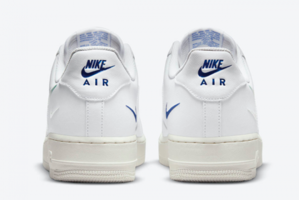 New Nike Air Force 1 Low Multi Swoosh White 2021 For Sale DM9096-101 -2