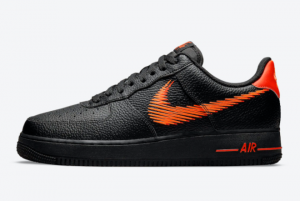 New Nike Air Force 1 Low Zig Zag Black Orange 2021 For Sale DN4928-001