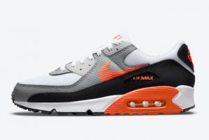 new nike air max 90 zig zag swoosh white grey black orange 2021 for sale dn4927 100 300x201