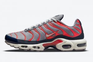 New Nike Air Max Plus Grey Navy Infrared 2021 For Sale DB0682-003