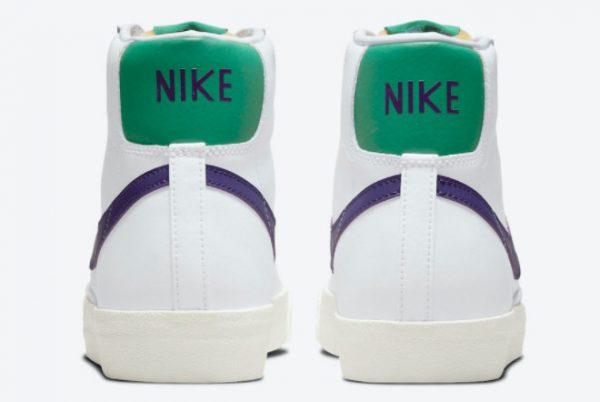 New Nike Blazer Mid 77 White Green Purple 2021 For Sale DO1157-100-2