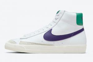new nike blazer mid 77 white green purple 2021 for sale do1157 100 300x201