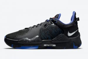 New Nike PG 5 Away Black Blue-Red 2021 For Sale CW3146-004