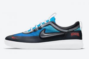 New Samborghini x Nike SB Nyjah Free 2 Light Photo Blue/Game Royal-Crimson-Metallic Silver 2021 For Sale DC9104-400