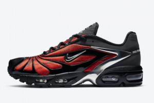 New Skepta x Nike Air Max Tailwind V Bloody Chrome Black Chrome-University Red 2021 For Sale CU1706-001