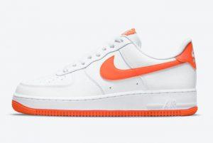 2021 Cheap Nike Air Force 1 Low White Orange DC2911-101