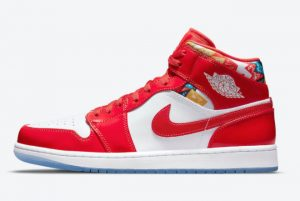 Cheap Air Jordan 1 Mid Red Patent 2021 For Sale DC7294-600