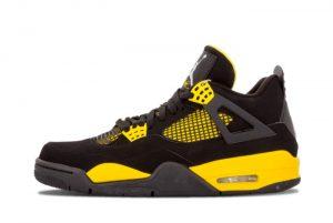 Cheap Air Jordan 4 Eulogize Black White-Tour Yellow 2021 For Sale 308497-008