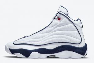 Cheap Jordan Pro Strong USA White Navy Red 2021 For Sale DC8418-002