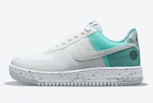 Cheap Nike Air Force 1 Low Crater Move To Zero White Aqua 2021 For Sale DO7692-101