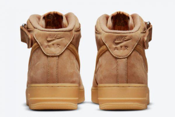 Cheap Nike Air Force 1 Mid Wheat Flax Flax-Gum Light Brown-Outdoor Green 2021 For Sale DJ9158-200-3