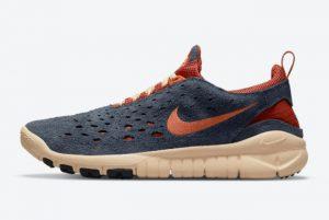 Cheap Nike Free Run Trail Thunder Blue Thunder Blue Orange-Cinnabar-Canvas 2021 For Sale CW5814-400